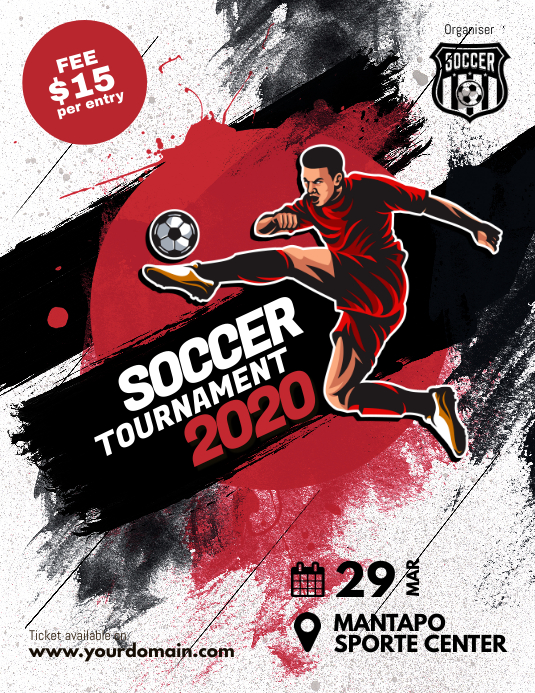 Soccer Futsal Tournament Flyer Poster Folder (US Letter) template