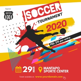 Soccer Futsal Tournament Flyer Social Instagram Post template