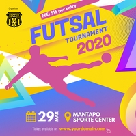 Soccer Futsal Tournament Flyer Social Instagram-Beitrag template