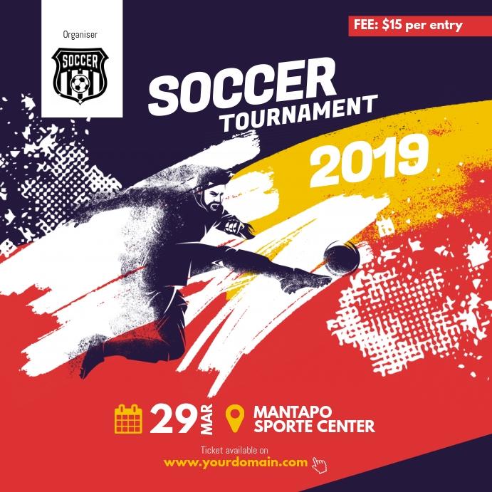 Soccer Futsal Tournament Instagram Post