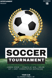 Soccer game event party flyer template