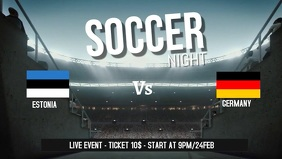 Soccer game facebook cover video template