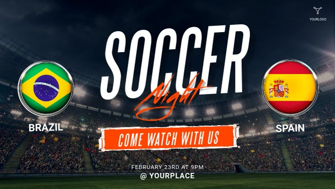 Soccer Game Live Video Ad template