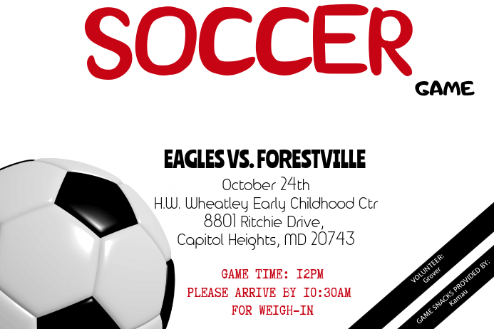 Soccer Game Flyer - Customizable