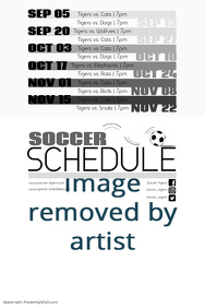 Soccer Game Schedule