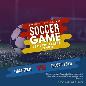 Soccer Game Social Media post Publicación de Instagram template