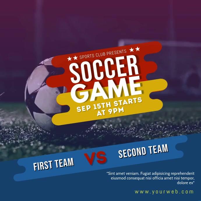 Soccer Game Social Media post template