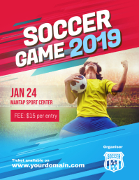 Soccer Game Tournament Flyer Poster
