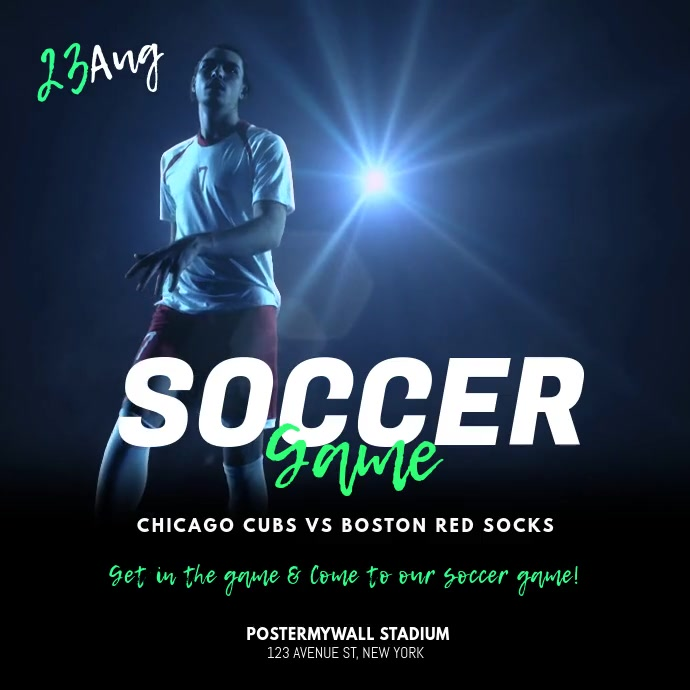 Soccer Game Video Ad Promo Template Instagram-opslag