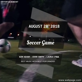 Soccer Game Video Ad Template