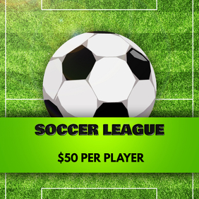 SOCCER LEAGUE FLYER