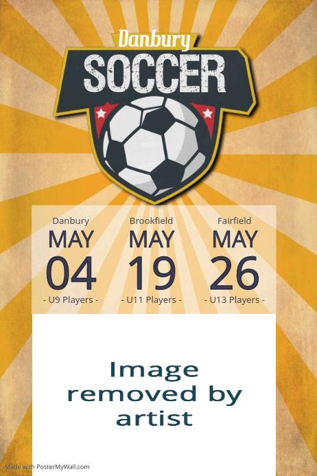 soccer league tournament practice fundraiser sports flyer