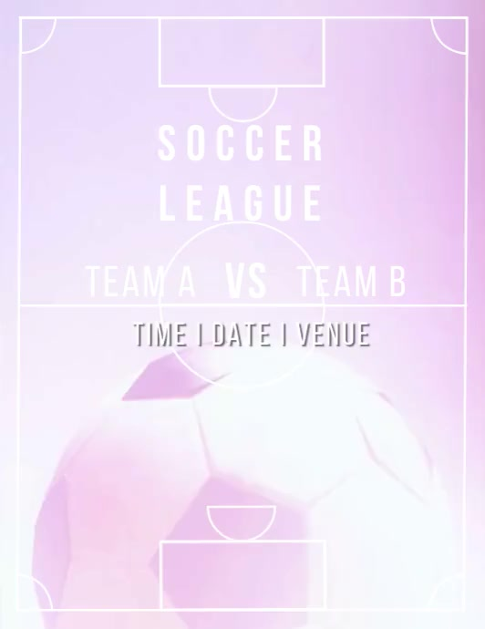 SOCCER LEAGUE VIDEO AD Flyer (Letter pang-US) template