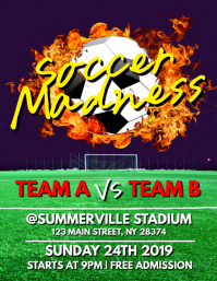 Soccer Madness Flyer
