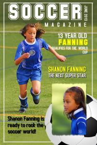 Soccer magazine poster template