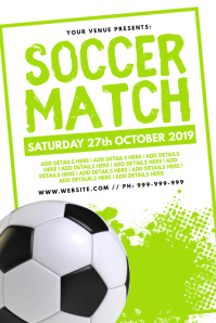 Soccer Match Poster