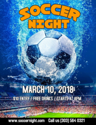 Soccer Night Flyer Template