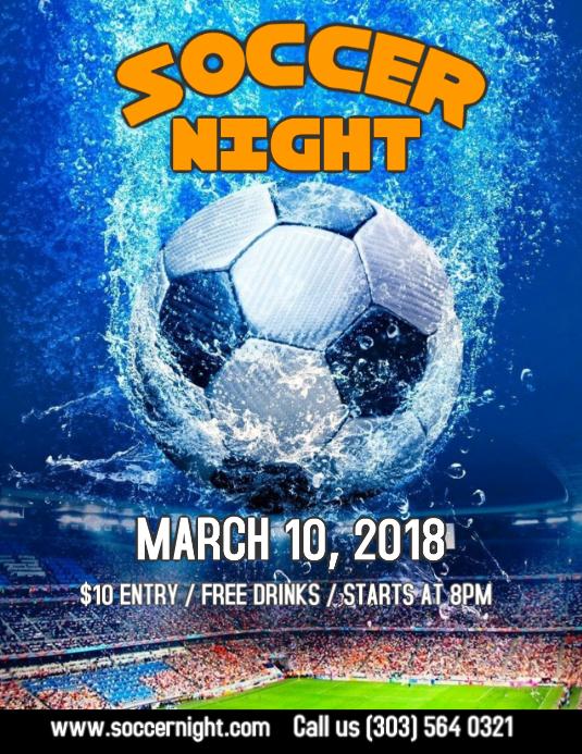Soccer Night Flyer Template