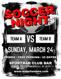 Soccer Night Flyer