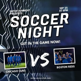 Soccer night video match template Instagram na Post