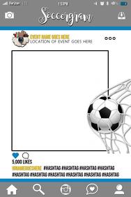 Soccer Party Prop Frame