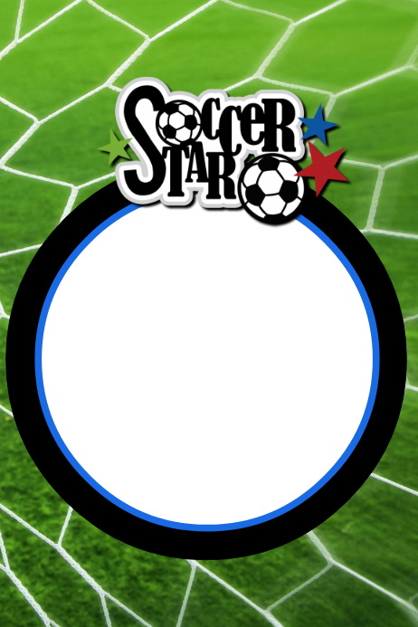 Soccer Party Prop Frame Template | PosterMyWall