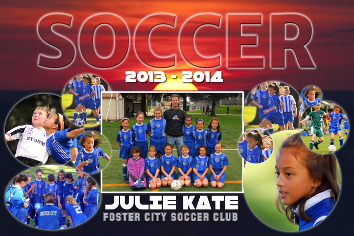 Soccer Photo Collage Template