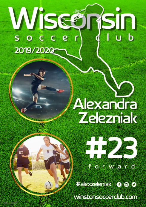 Soccer Player Poster A3 template