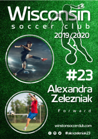 Soccer Player Poster