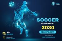 Soccer post Banner 4' × 6' template