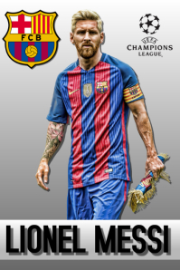 SOCCER POSTER Affiche template