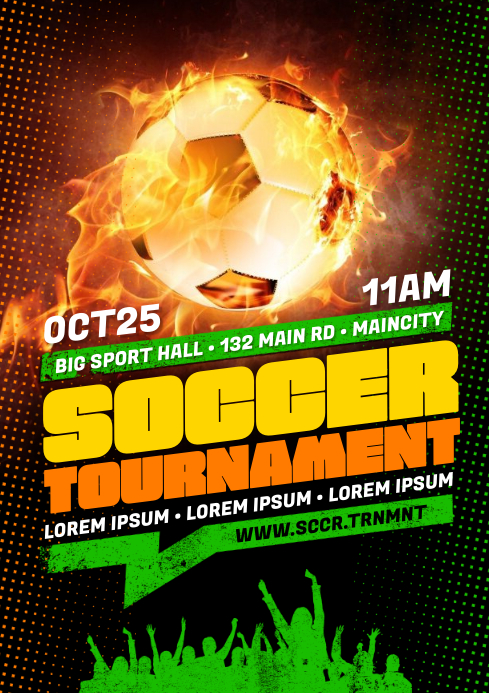 SOCCER POSTER A4 template