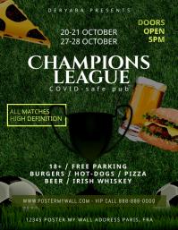 Soccer Promotion Beer Bar Pub Food Flyer