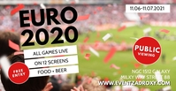 Soccer Public Viewing Live Watch Bar Club EM Facebook-evenementomslag template