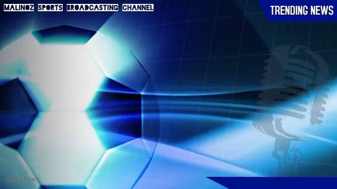 Soccer Sports Broadcasting Video Display Pantalla Digital (16:9) template