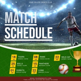 Soccer Sports Schedule Square Video