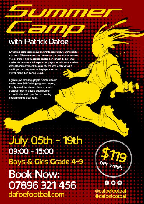 Soccer Summer Camp Flyer