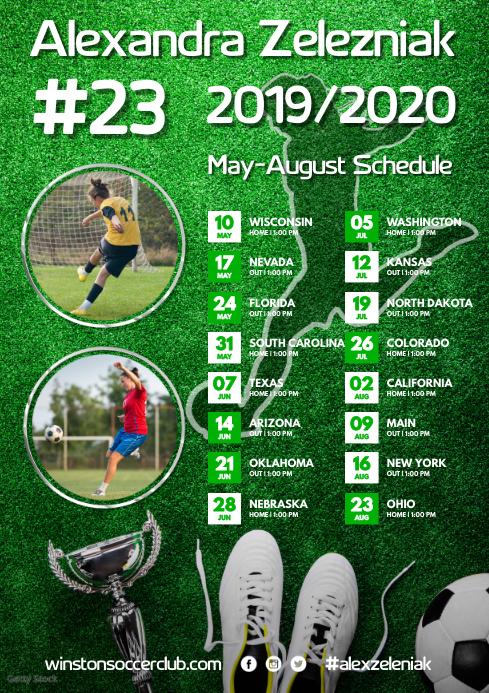Soccer Team Poster A3 template