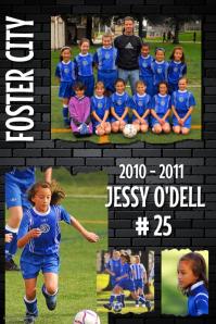 Soccer Team Poster Template
