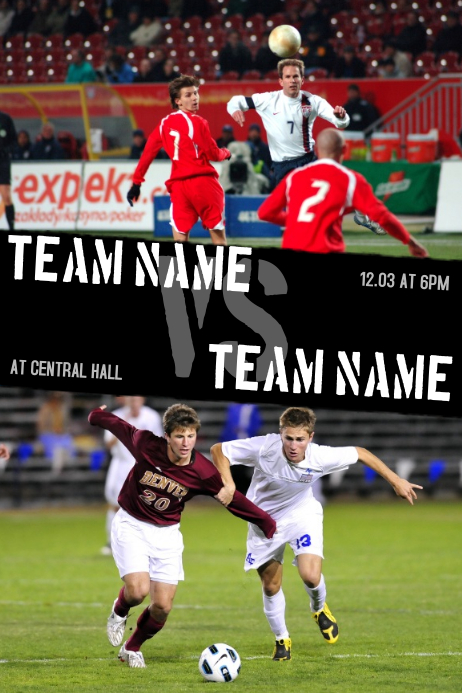 Soccer Team Vs Event Flyer Template