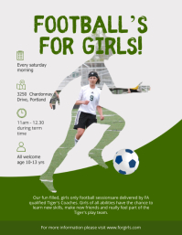 Soccer Teams Try outs Poster Flyer (US Letter) template