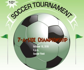 Soccer Tournament Grand rectangle template