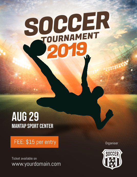 Soccer Tournament Event Flyer Template Postermywall