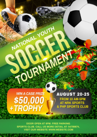 Soccer Tournament Flyer A4 template