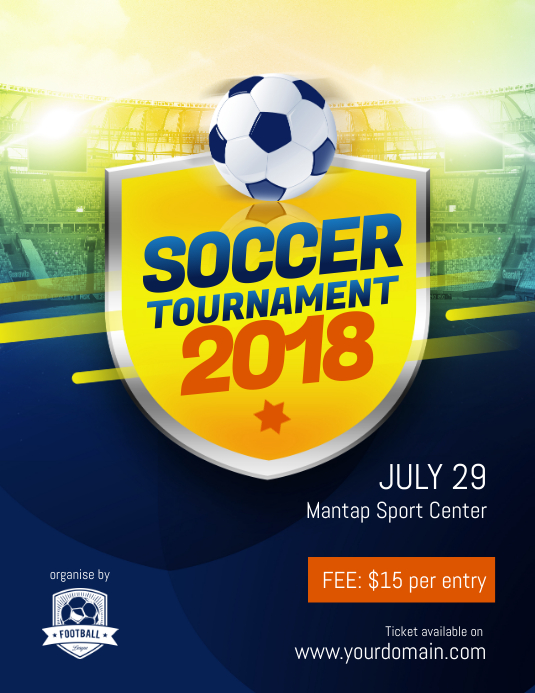 Soccer Tournament Flyer Template PosterMyWall