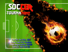 Soccer tournament template