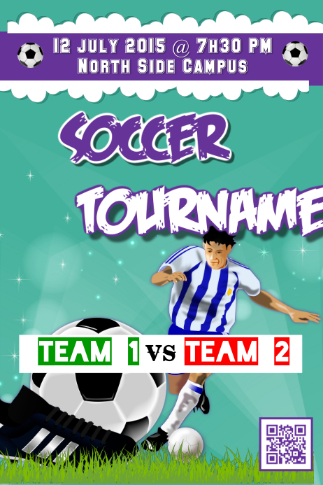 Soccer Tournament Poster PosterMyWall Template PosterMyWall
