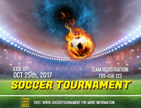 Soccer tournament template
