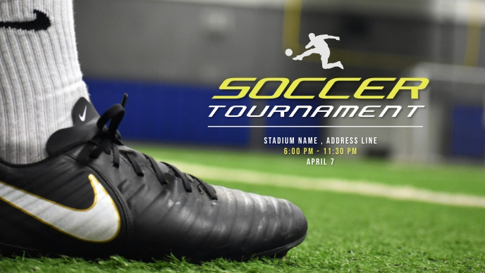 Soccer Tournaments Video Ad template