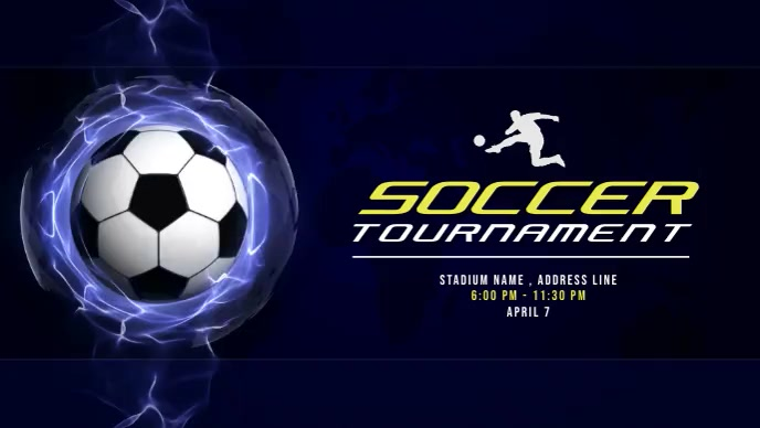 Soccer Tournaments Video Ad Facebook-covervideo (16:9) template